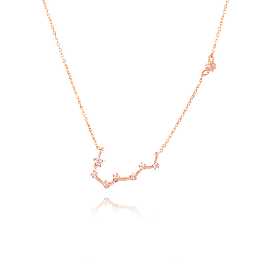 AppleLatte Big Dipper Necklace, Dainty Rose Gold Plated Round Pendant