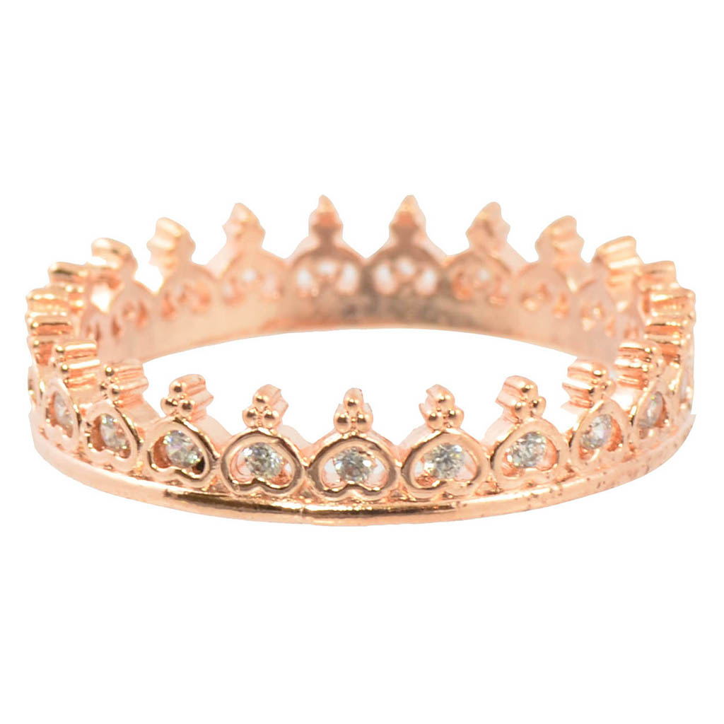 In Your Dreams Crown Ring, Rose Gold Plated Size 7