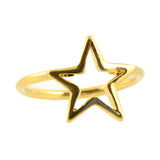 In Your Dreams Hollow Star Midi Knuckle Ring, Gold Plated