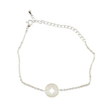 In Your Dreams Compass Bracelet, Dainty Silver Plated Link Bracelet