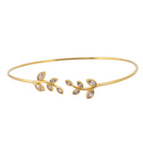 In Your Dreams Crystal Leaf Tennis Bracelet, Goldtone Link