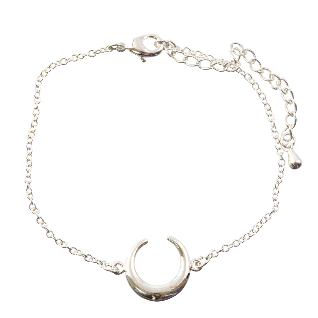 In Your Dreams Reverse Bull Horn Tennis Bracelet, Silvertone Link