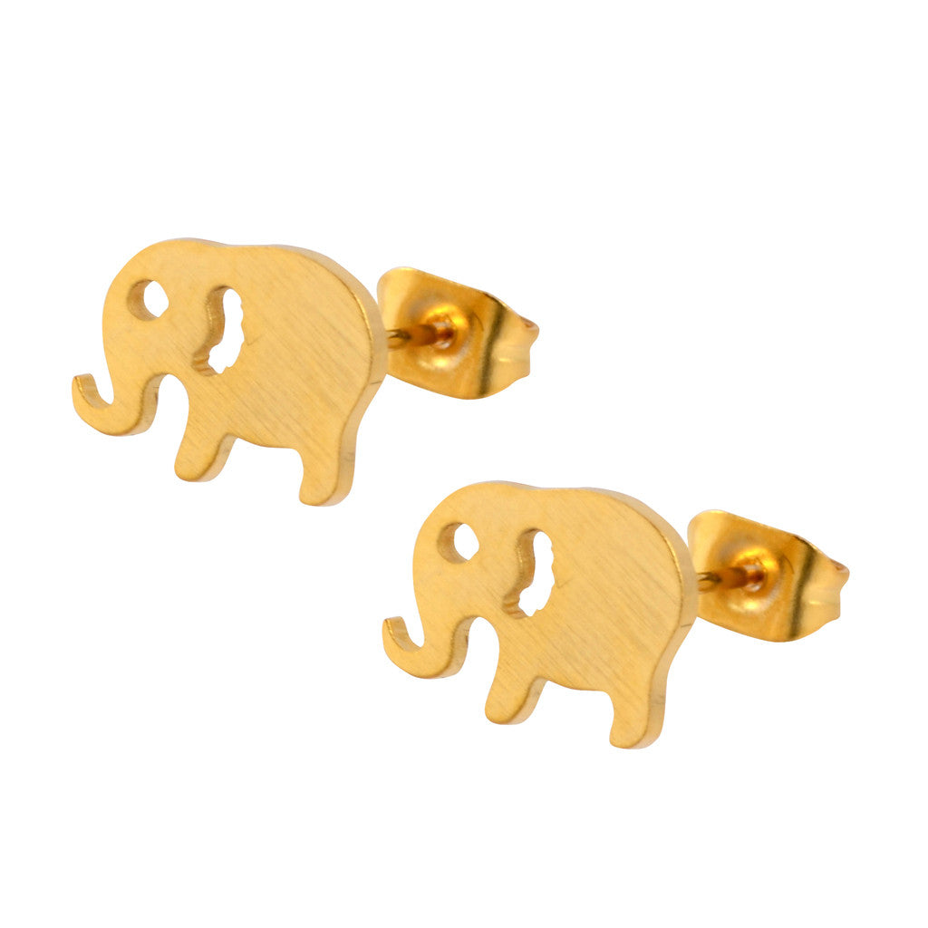 earrings world link gold market stud elephant i