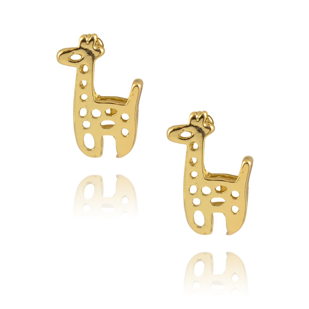 In Your Dreams Spotted Giraffe Earrings, Dainty Gold Plated Studs