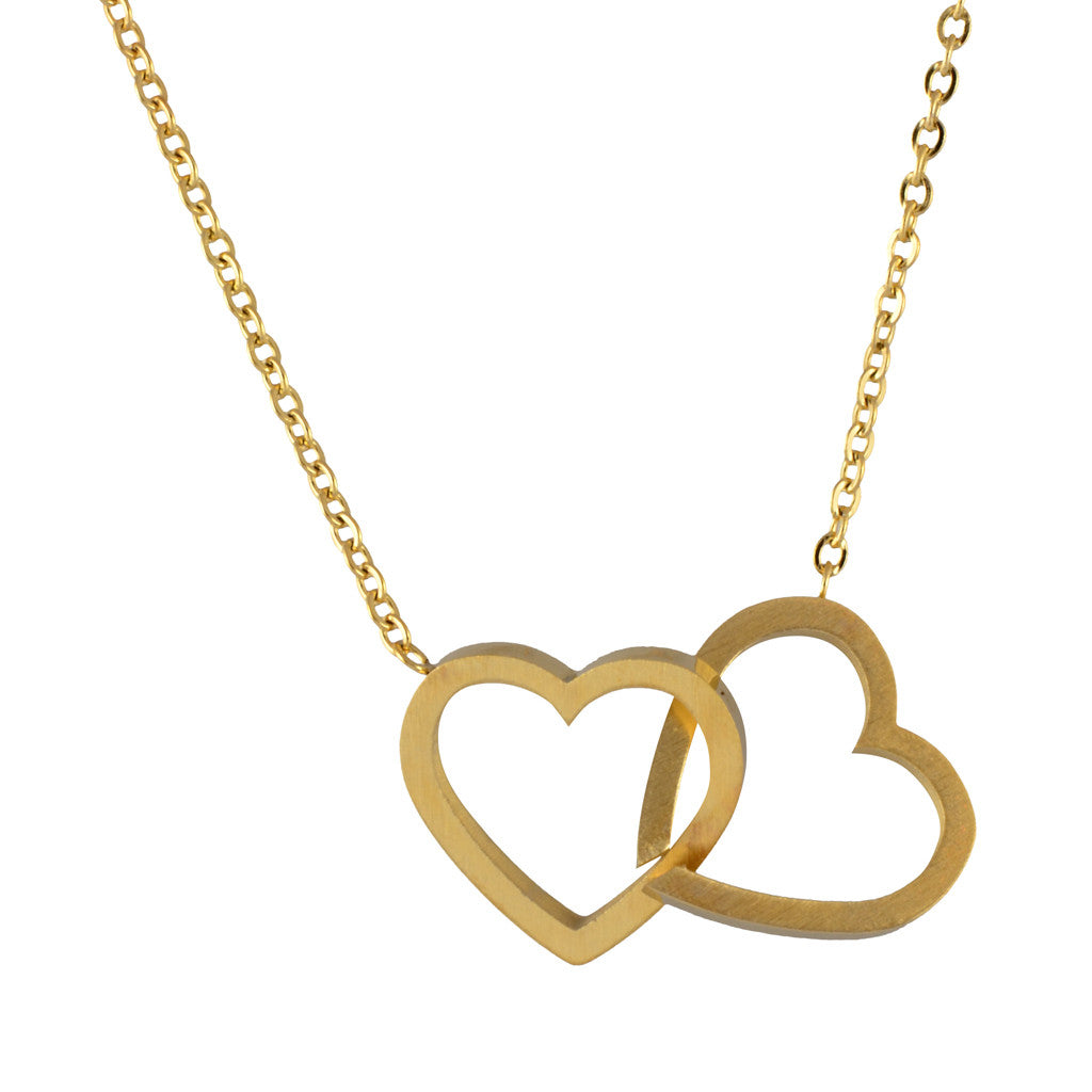 personalized heart product material main double necklace pendant