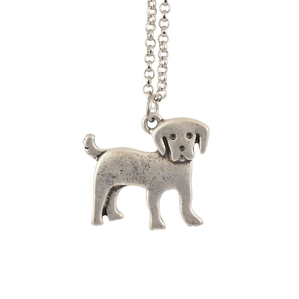 In Your Dreams Labrador Dog Necklace, Dainty Silver Plated Pet Pendant