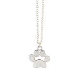 In Your Dreams Dog Paw Necklace, Dainty Silver Plated Pendant