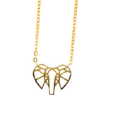 In Your Dreams Origami Elephant Necklace, Dainty Gold Plated Pendant