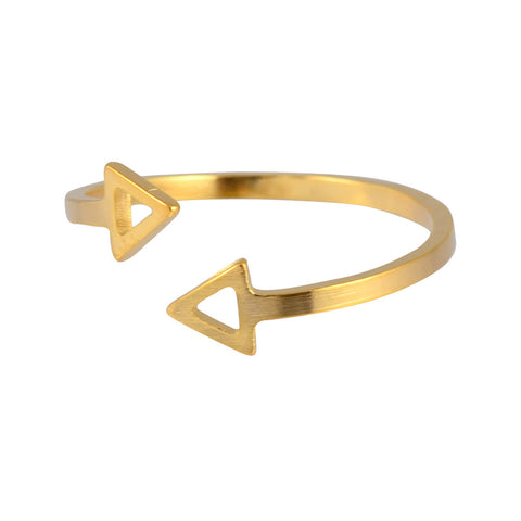 Zenzii Arrow Ring, Goldtone Size 7