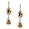 Lorren Bell Chandelier Oval and Pear Dangle Earrings, Goldtone
