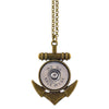Little Black Gun Anchor 20 Gauge Shotgun Shell Pendant Necklace, Brass and Silvertone Finish