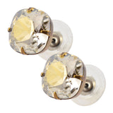 Liz Palacios Rounded Square Swarovski Crystal Stud Earrings in Silvernight