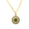 La Vie Parisienne Gold Plated Circle Crystal Pendant Necklace with Swarovski Crystal, 18