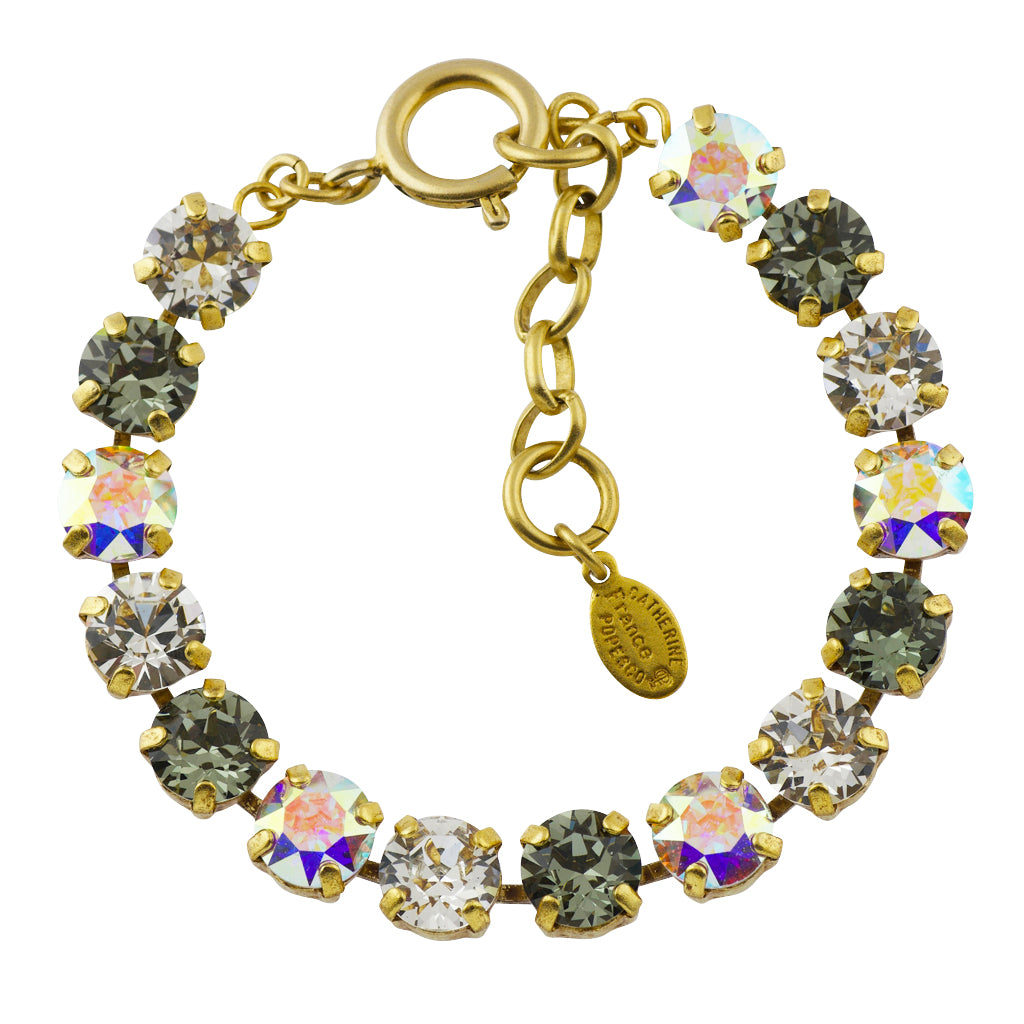 Catherine Popesco Gold Plated Tennis Bracelet, La Vie Parisienne, 8""
