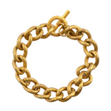 Catherine Popesco Gold Plated Link Chain Bracelet, La Vie Parisienne, 8