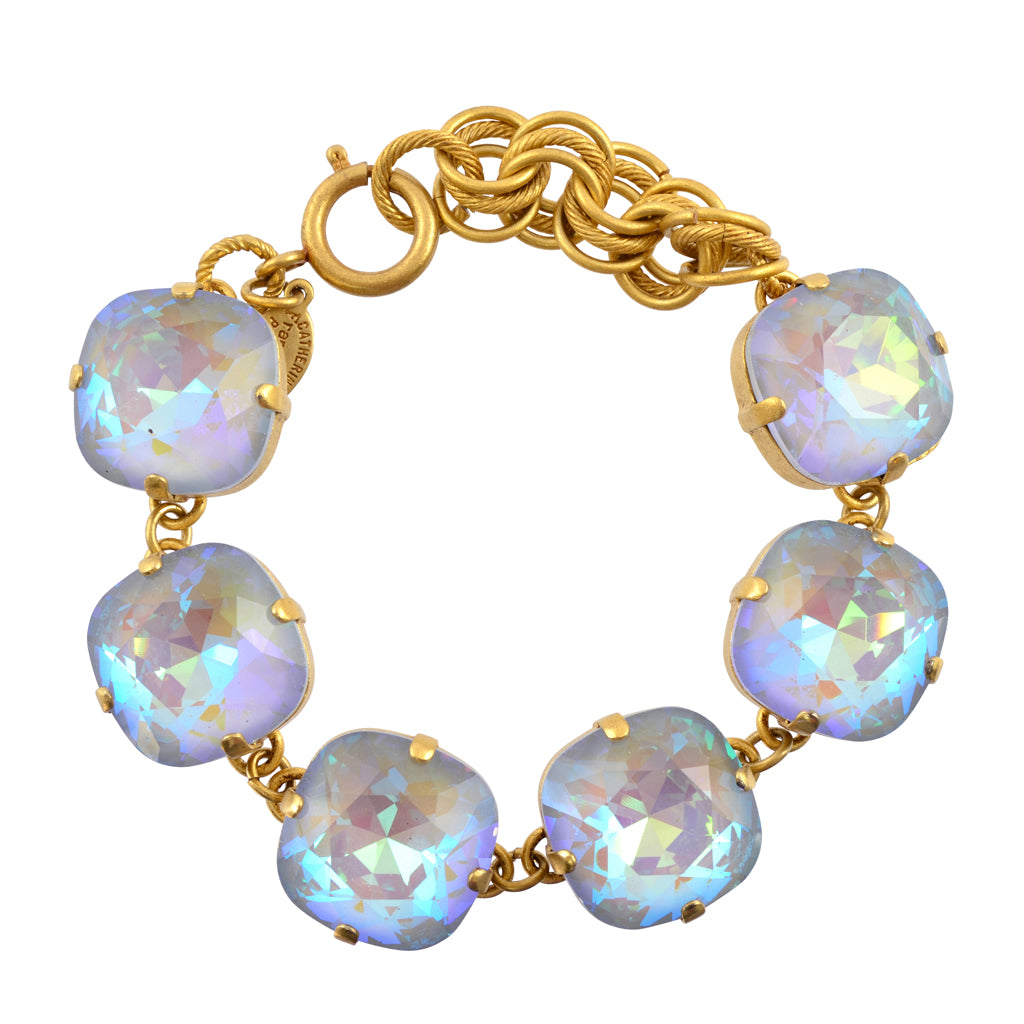 "Catherine Popesco Gold Plated Large Moonlight Crystal Bracelet, La Vie Parisienne, 8"" 1676G MOONL"