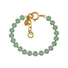 La Vie Parisienne Round Tennis Bracelet, Catherine Popesco Gold Plated By La Vie Parisienne, Pacific Opal 8