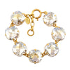 Catherine Popesco Gold Plated Large Clear Crystal Bracelet, La Vie Parisienne, 8
