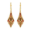 La Vie Parisienne Gold Plated Ornament Dangle Earrings