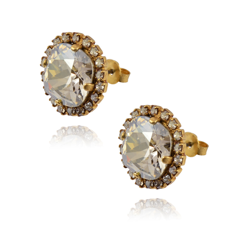 La Vie Parisienne Gold Plated Round Circle Stud Earrings