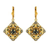 La Vie Parisienne Gold Plated Square Dangle Earrings