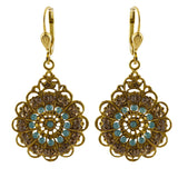 La Vie Parisienne Gold Plated Filigree Dangle Earrings