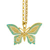 La vie Parisienne Gold Plated Enamel Butterfly Pendant Necklace