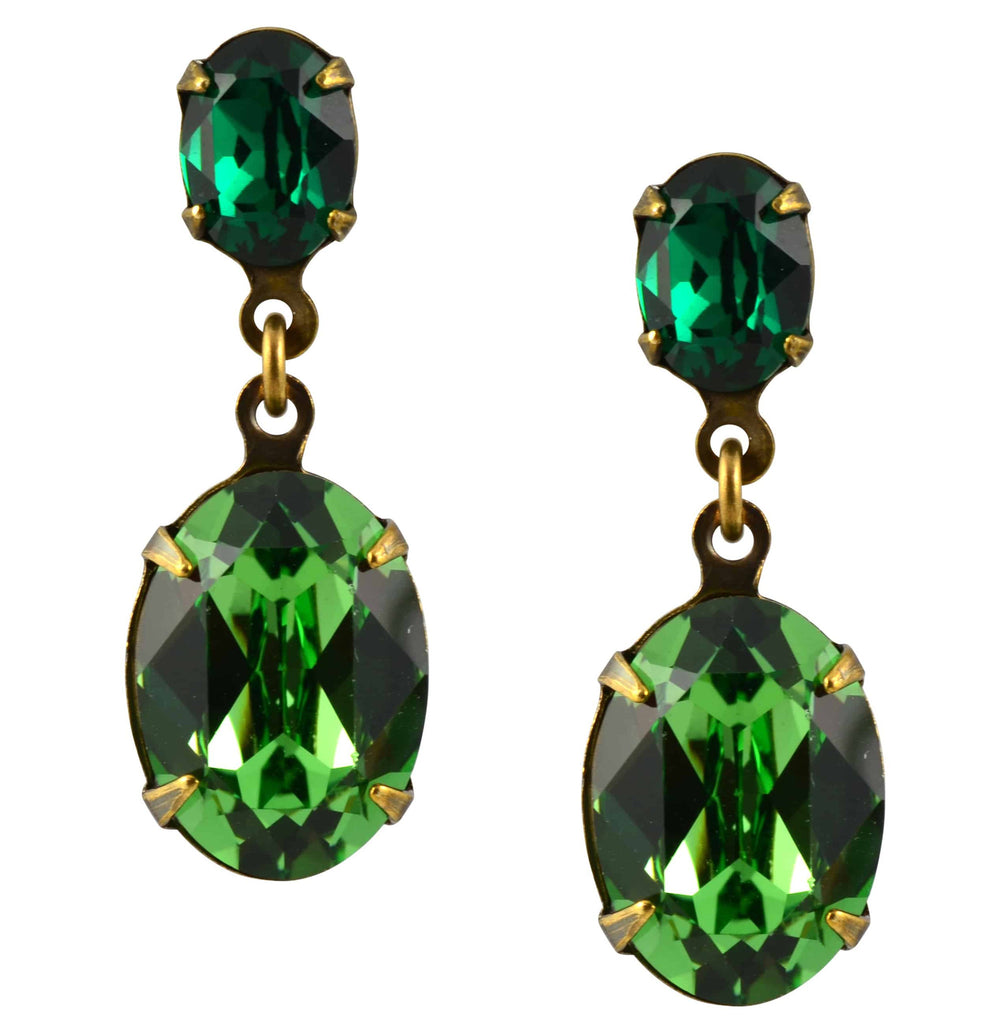 dangle large img green earrings white rhinestone products collections teadrop original and gemstone stud