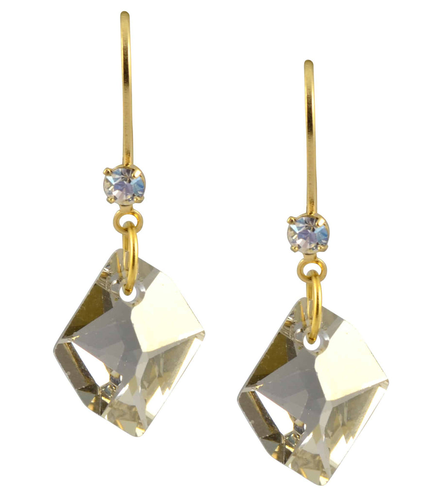 Liz Palacios Gold Plated Swarovski Crystal Dangle Earrings