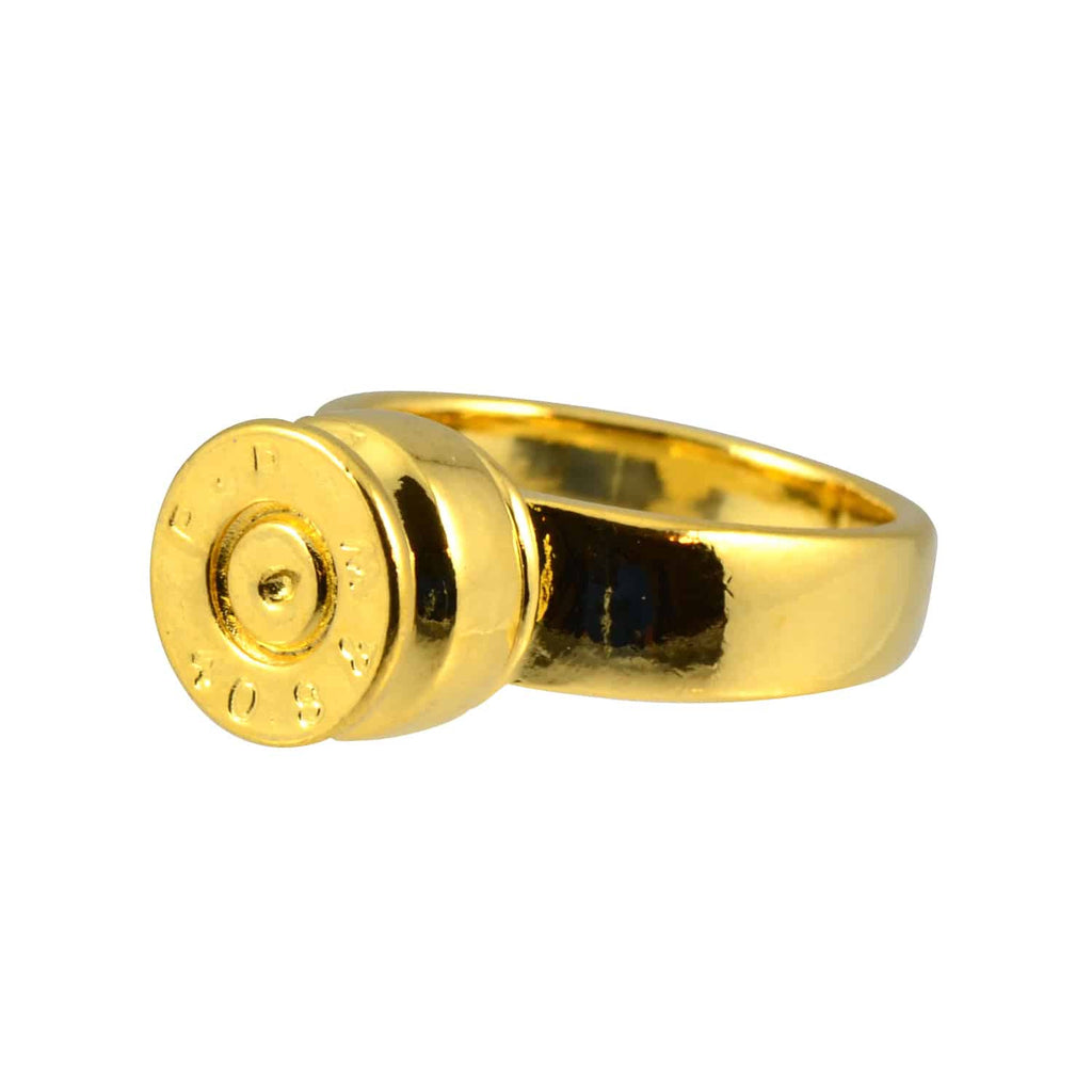 Lizzy Js Bullet Shell Ring, Gold Plated Size 7