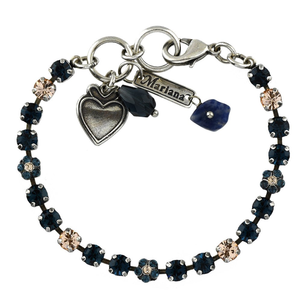 Mariana Jewelry Ocean Bracelet, Silver Plated with Swarovski Crystal, Nature Collection MAR-B-4008 2142 SP