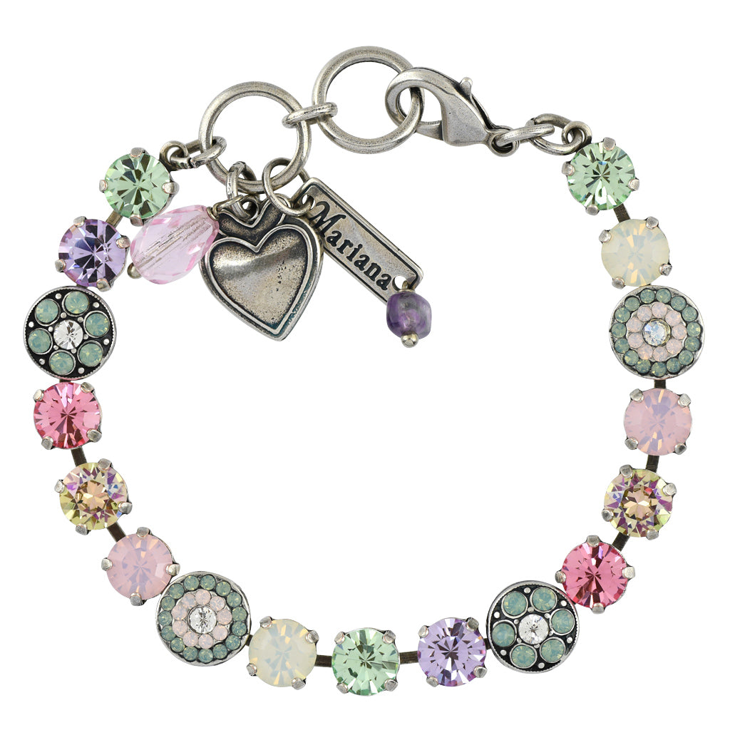 Mariana Jewelry Pina Colada Bracelet, Silver Plated with Swarovski Crystal, Nature Collection MAR-B-4044 1063 SP