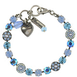 Mariana Jewelry Periwinkle Bracelet, Silver Plated with Swarovski Crystal, Nature Collection MAR-B-4044 1343 SP