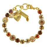 Mariana Jewelry Caramel Bracelet, Gold Plated with Swarovski Crystal, Nature Collection MAR-B-4044 137 YG