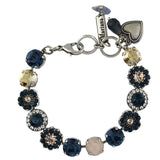 Mariana Jewelry Ocean Bracelet, Silver Plated with Swarovski Crystal, Nature Collection MAR-B-4045_1 2142 SP