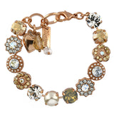 Mariana Jewelry Seashell Bracelet, Rose Gold Plated with Swarovski Crystal, Nature Collection MAR-B-4045_1 39361 RG