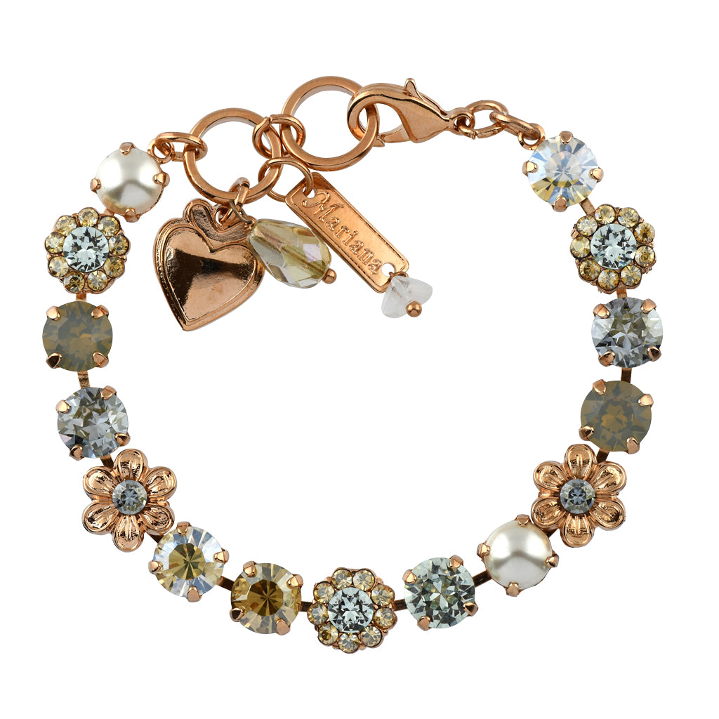Mariana Jewelry Seashell Bracelet, Rose Gold Plated with Swarovski Crystal, Nature Collection MAR-B-4068_4 39361 RG