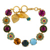 Mariana Jewelry Happy Days Bracelet, Gold Plated with Swarovski Crystal, Nature Collection MAR-B-4084 1007 YG