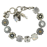 Mariana Jewelry Silk Bracelet, Silver Plated with Swarovski Crystal, Nature Collection MAR-B-4084 1049 SP