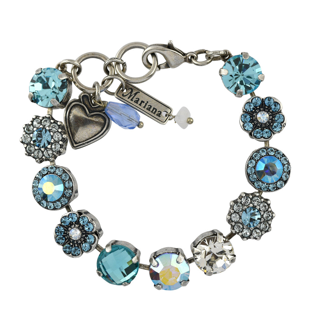 Mariana Jewelry Italian Ice Bracelet, Silver Plated with Swarovski Crystal, Nature Collection MAR-B-4084 141 SP
