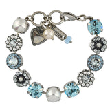 Mariana Jewelry Aruba Bracelet, Silver Plated with Swarovski Crystal, Nature Collection MAR-B-4084 202361 SP