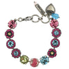 Mariana Jewelry Spring Flowers Bracelet, Silver Plated with Swarovski Crystal, Nature Collection MAR-B-4084 2141 SP
