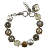 Mariana Jewelry Champagne and Caviar Bracelet, Silver Plated with Swarovski Crystal, Nature Collection MAR-B-4084 3911 SP