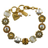 Mariana Jewelry Champagne and Caviar Bracelet, Gold Plated with Swarovski Crystal, Nature Collection MAR-B-4084 3911 YG