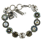 Mariana Jewelry Ice Bracelet, Silver Plated with Swarovski Crystal, Nature Collection MAR-B-4084 512 SP