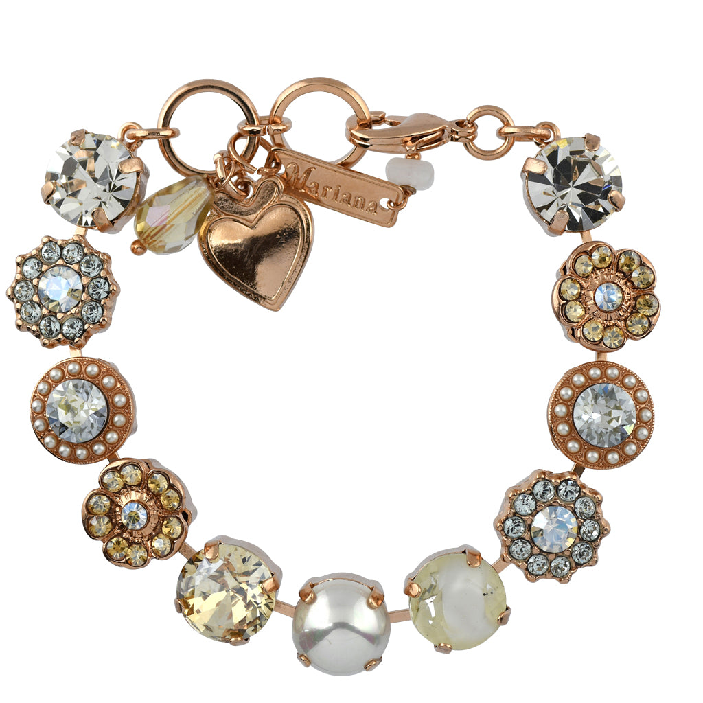 Mariana Jewelry Seashell Bracelet, Rose Gold Plated with Swarovski Crystal, Nature Collection MAR-B-4084 M39361 RG
