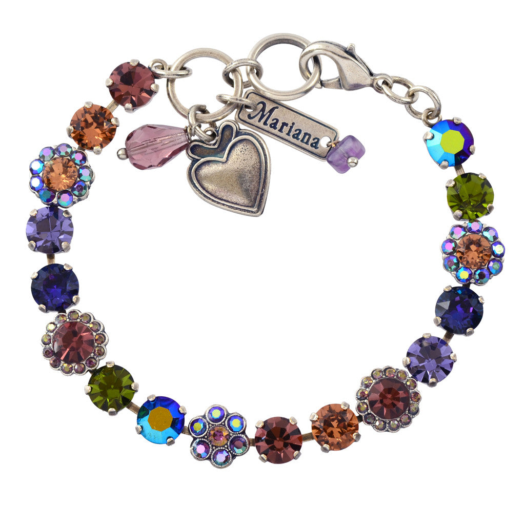 Mariana Penelope Silver Plated Tennis Bracelet, ...