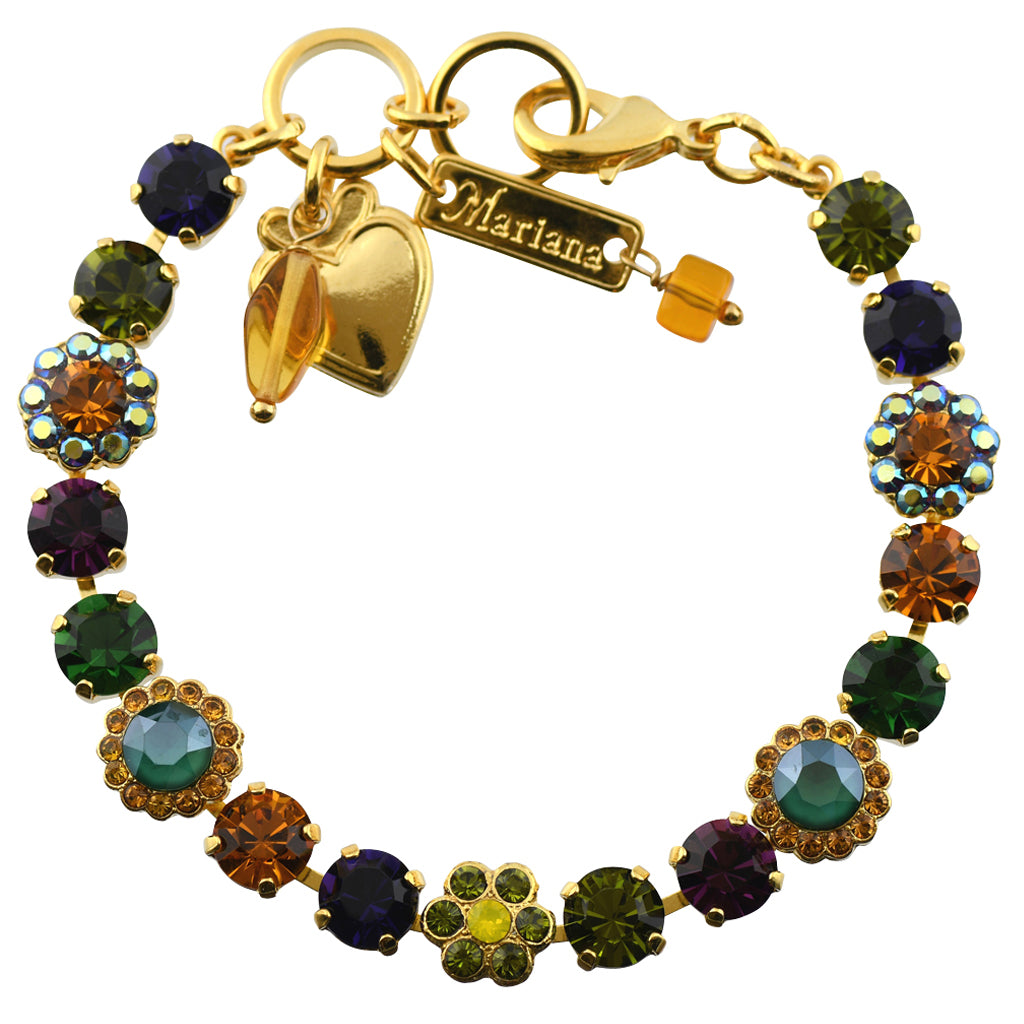 "Mariana Jewelry Holiday Lights Gold Plated Tennis Bracelet, 8"" 4173_3"