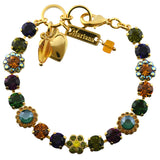 Mariana Jewelry Holiday Lights Gold Plated Tennis Bracelet, 8