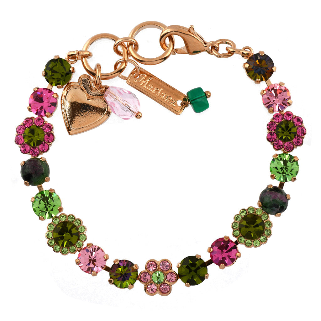 Mariana Jewelry Tutti Frutti Bracelet, Rose Gold Plated with Swarovski Crystal, Nature Collection MAR-B-4173_3 M142 RG